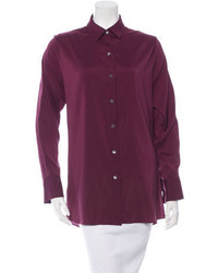 Roland Mouret Silk Button Up Shirt