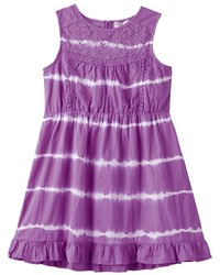 Toddler Girl Design 365 Crochet Lace Tie Dye Dress