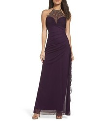 Blondie Nights Embellished Halter Gown