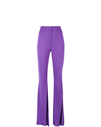 Marni High Waist Flared Jersey Trousers