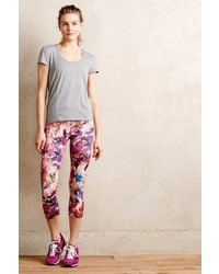 Anthropologie onzie waterfall floral leggings medium 122733