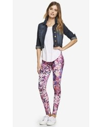 Express wildflower print sexy stretch legging medium 122731