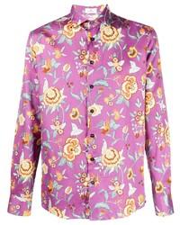 Etro Floral Print Long Sleeve Shirt