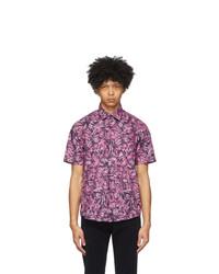 Hugo Pink Floral Ermino Short Sleeve Shirt