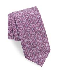 David Donahue Floral Silk X Long Tie
