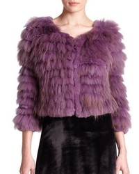 Alice + Olivia Cropped Fur Jacket