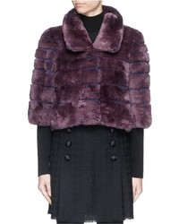 HOCKLEY Ditti Rabbit Fur Cropped Jacket