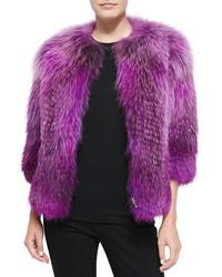 Prabal Gurung Fox Fur Front Zip Jacket