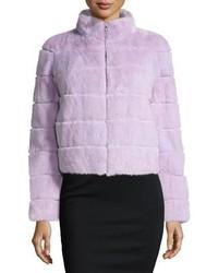 GORSKI Mink Fur Zip Jacket Lavender