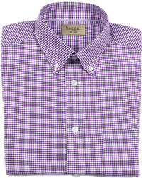 Haggar Gingham Oxford Dress Shirt