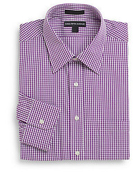 Saks Fifth Avenue Regular Fit Gingham Cotton Dress Shirt