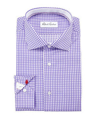 Robert Graham Lyon Gingham Dress Shirt Purple