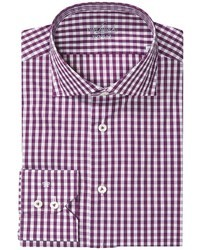 Purple Gingham Long Sleeve Shirt