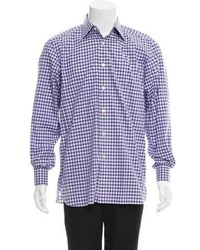 Tom Ford Gingham Button Up Shirt