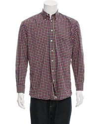 Burberry London Gingham Button Up Shirt