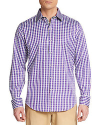 Tailored fit gingham check sportshirt medium 282994