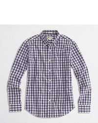 J.Crew Factory Tall Washed Shirt In Gingham