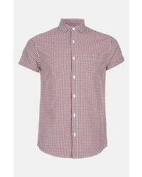 Topman Short Sleeve Gingham Shirt