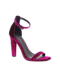 Purple heeled sandals original 1638969