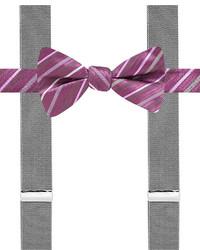 Alfani Spectrum Bexley Stripe Pre Tied Bow Tie Suspender Only At Macys