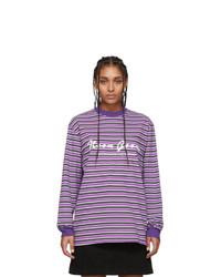 Noon Goons Purple And Black Patricia Long Sleeve T Shirt
