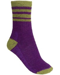 Striped hike light socks merino wool crew medium 290442