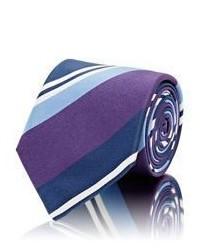 Bigi Striped Necktie Purple