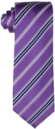 Geoffrey Beene Adler Stripe Necktie Purple One Size