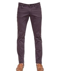 Etro 19cm Washed Stretch Cotton Jeans