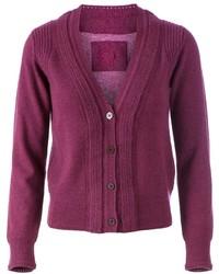Purple Knit Cardigan