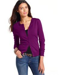 August Silk Long Sleeve Silk Blend Cardigan
