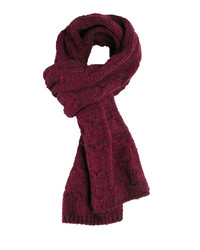 Asos Burgundy Cable Scarf