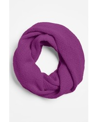Nordstrom Pointelle Knit Cashmere Infinity Scarf Purple Orchid One Size One Size