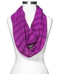 Perforated jersey knit infinity scarf purple medium 174118