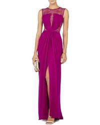 Purple Lace Evening Dress