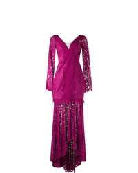 Martha Medeiros Lace Maxi Dress