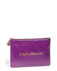 Purple Leather Clutch