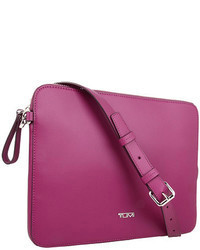 Purple Leather Crossbody Bag