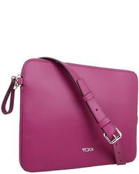 Purple Leather Crossbody Bag