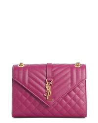 Saint Laurent Medium Cassandre Calfskin Shoulder Bag