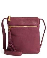 Sarah leather crossbody bag purple medium 5264650