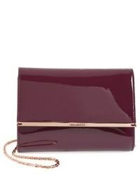 Ted Baker London Kerstin Patent Leather Crossbody Bag Black