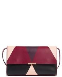 Ted Baker London Maude Harlequin Leather Crossbody Bag Purple