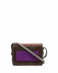 VBH Pulce Matte Python Crossbody Bag Turquoisepinkpurple