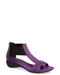 Purple Leather Heeled Sandals