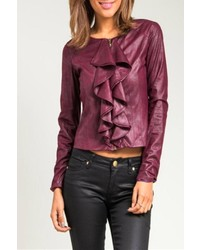 Ruffle front jacket medium 113295