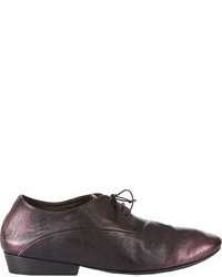 Purple Leather Oxford Shoes
