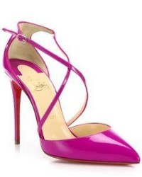 Christian Louboutin Blake Patent Leather Crisscross Pumps