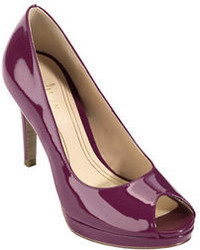 Cole Haan Chelsea Patent Leather Peep Toe Pumps