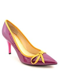Enzo angiolini leealder purple patent leather pumps heels shoes medium 547567